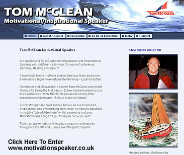 Tom McClean Motivational Speaker Website