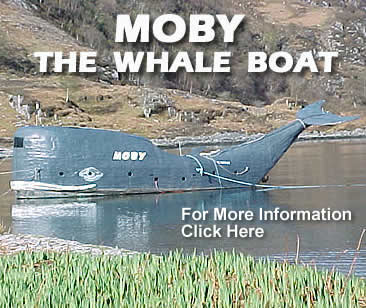Moby The Whale Boat Page on Tom McClean's Highland Outdoor Centre Website